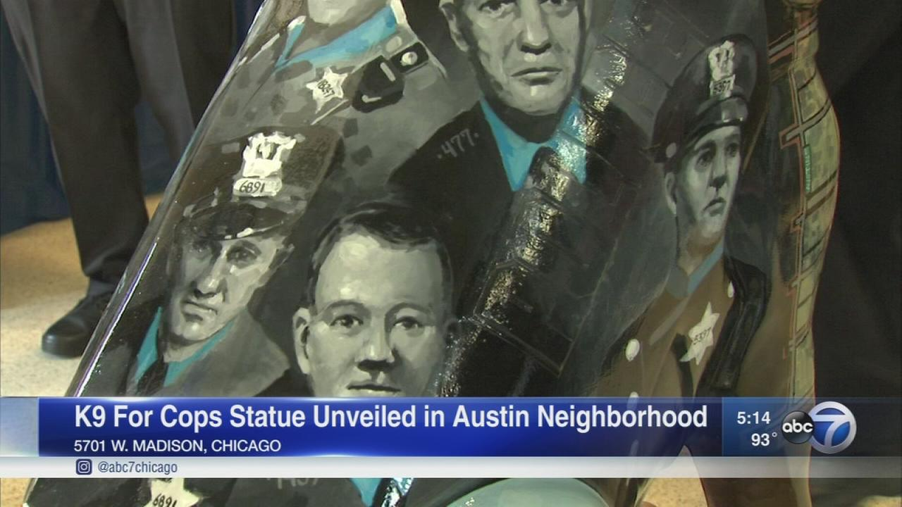 Statue honors fallen officers on West Side