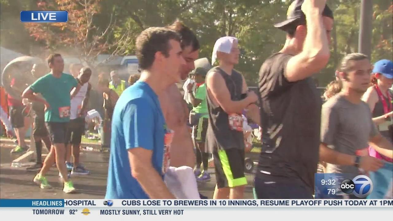Chicago Half-Marathon goes on in record heat