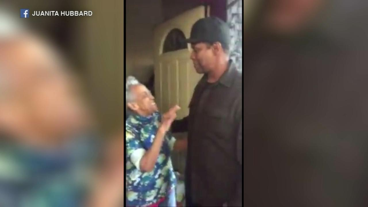 Denzel Washington surprises Chicago grandma