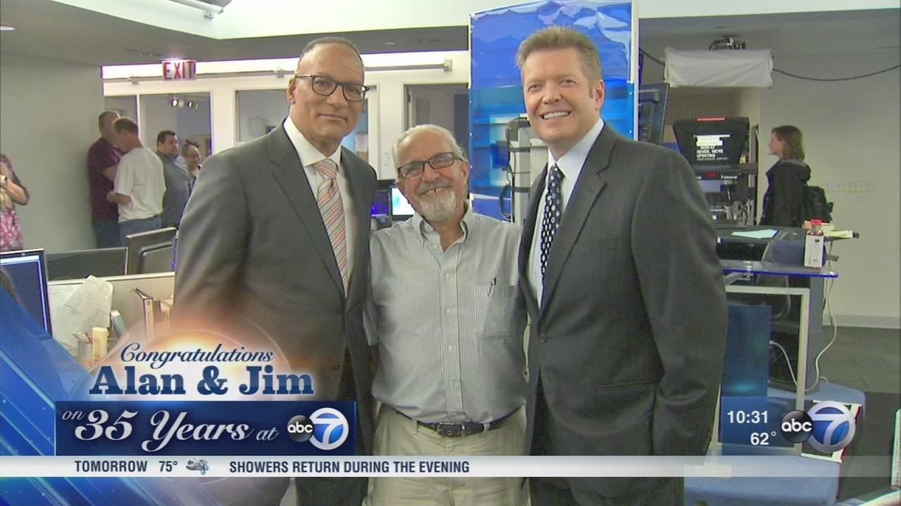 Alan Krashesky and Jim Rose mark 35 years at ABC7