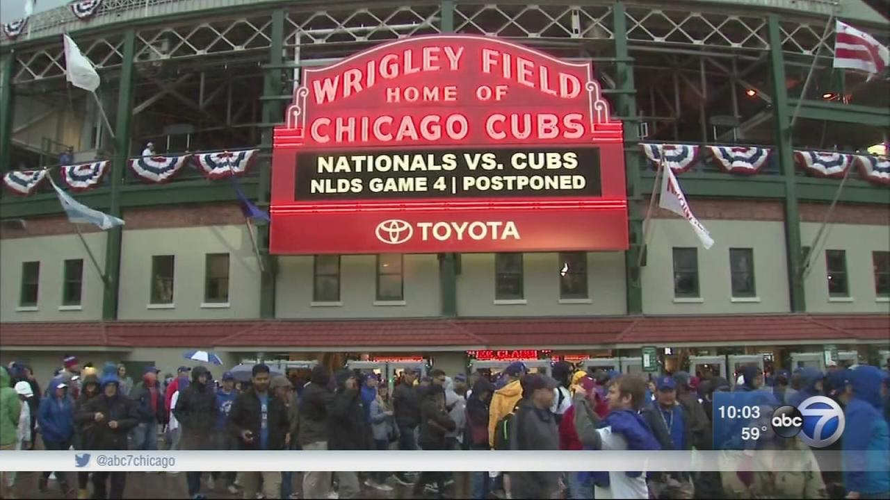 Chicago Cubs NLDS Game 4 against Nationals postponed