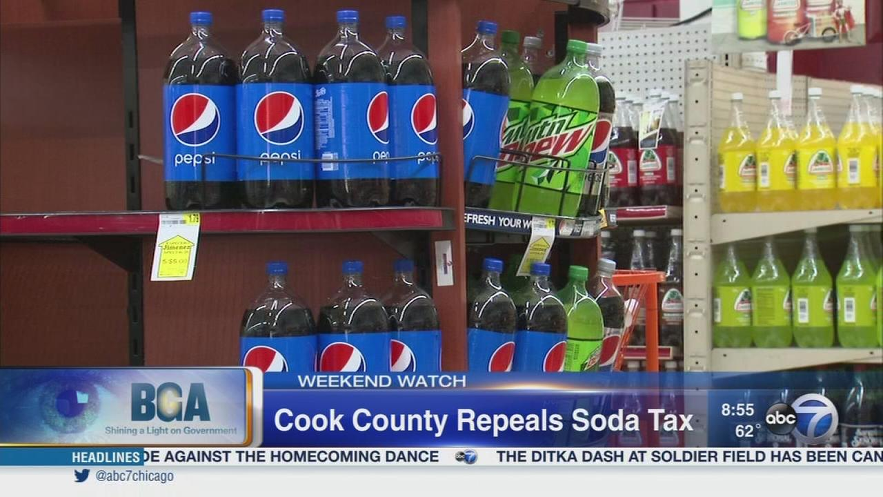 Weekend Watch: Cook County soda tax repeal