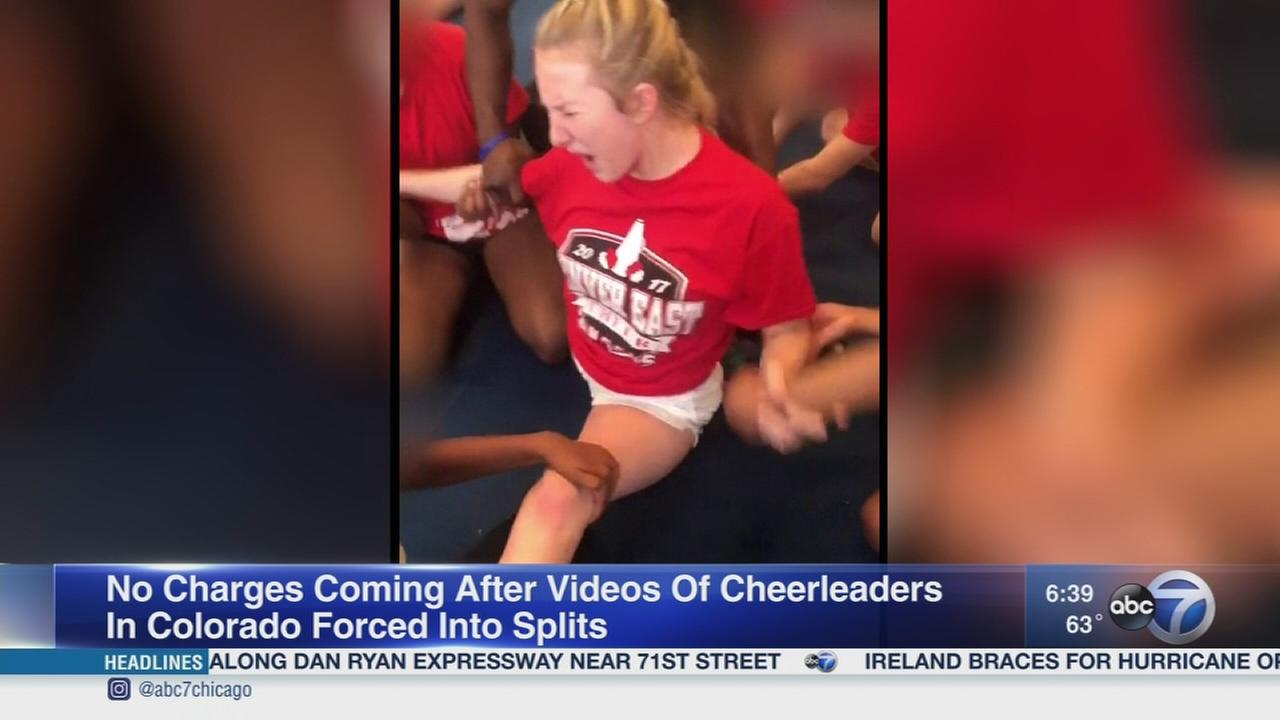 No charges in cheerleader forced splits videos