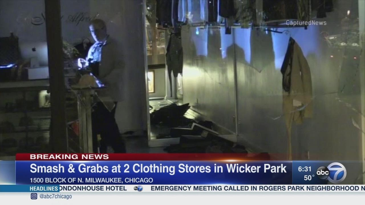 2 Wicker Park stores struck in smash and grab