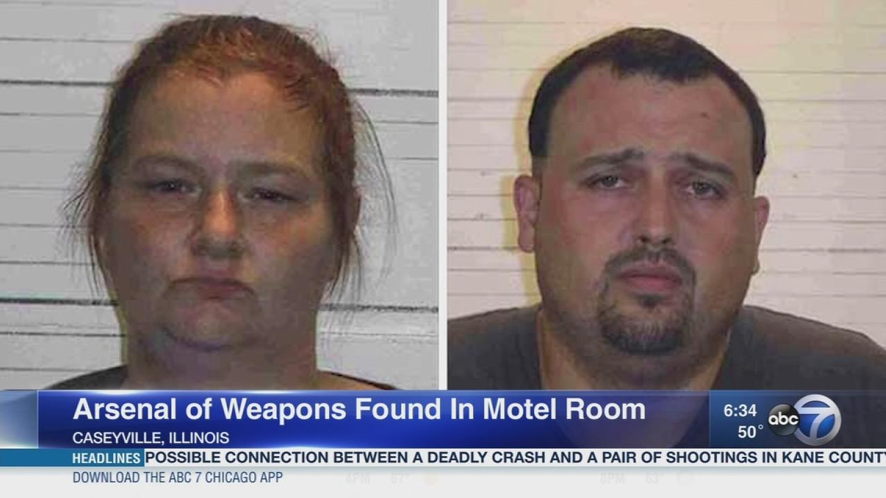 Arsenal of weapons found in hotel room