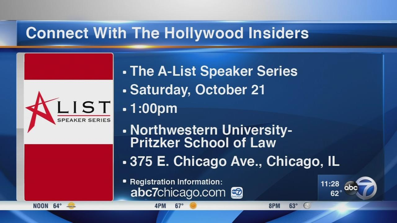 Connect with Hollywood insiders during A-List Speaker Series