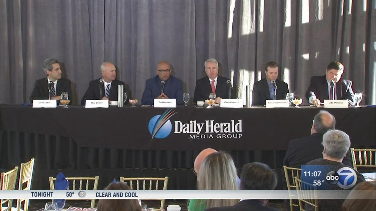 Democratic gubernatorial candidates discuss suburban businesses