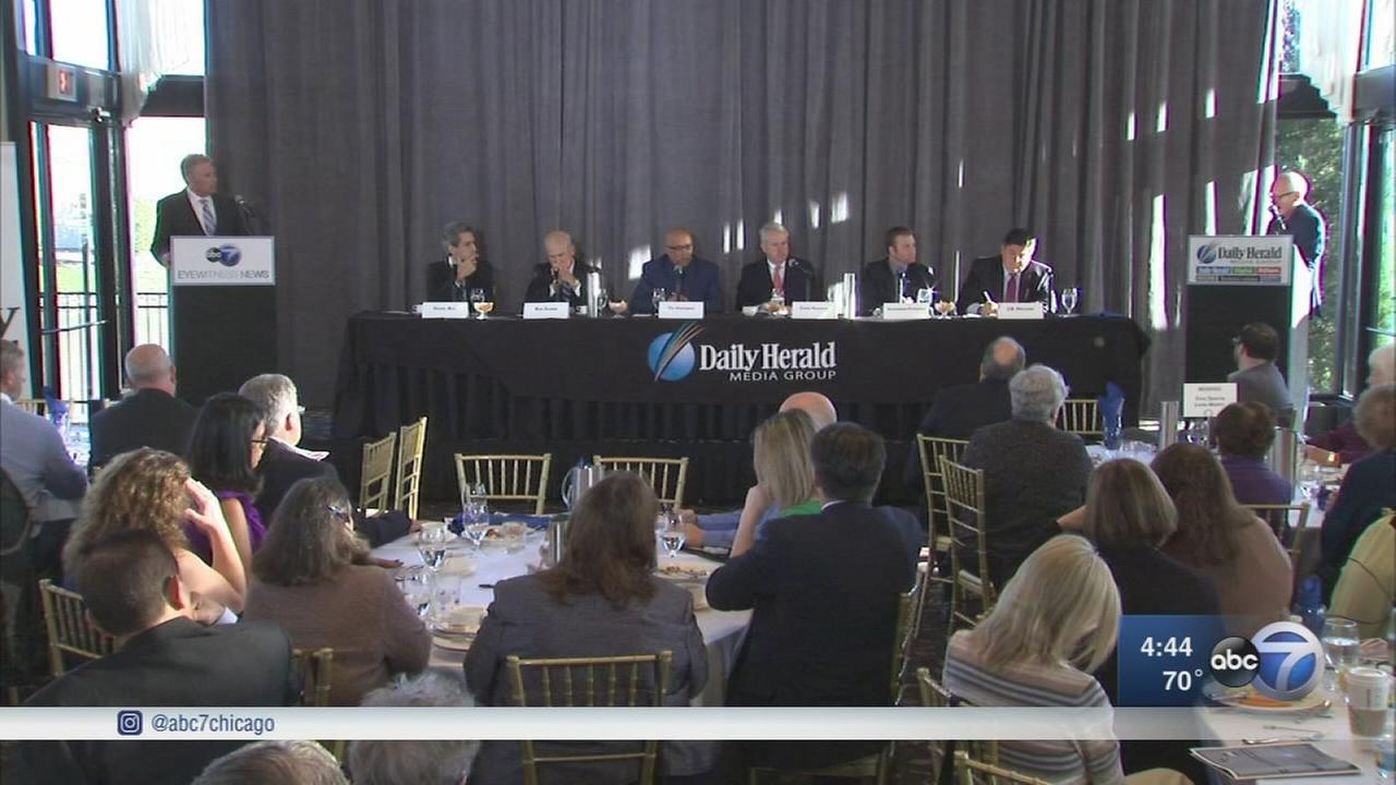 Democratic gubernatorial candidates discuss suburban businesses in forum