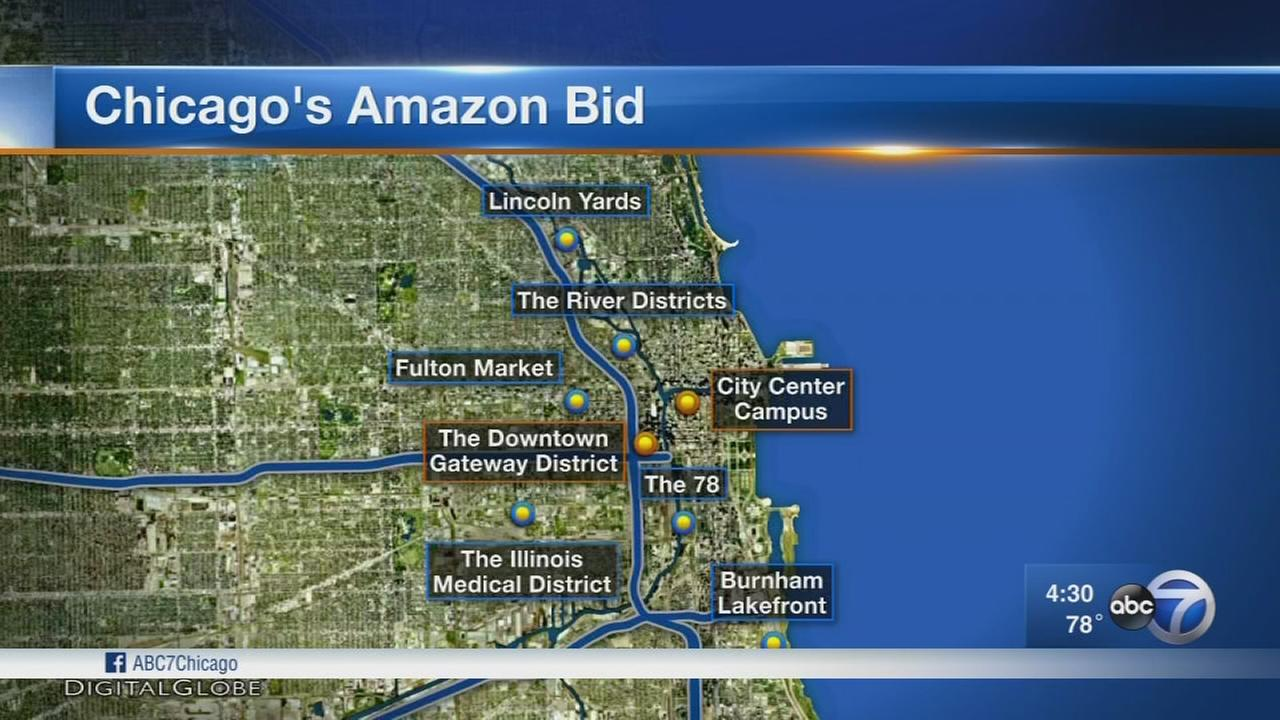 Chicago offers Amazon 10 potential sites for second hq