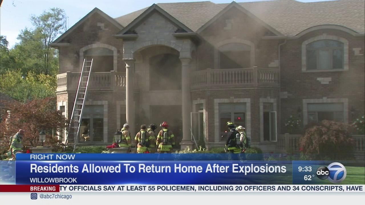 Evacuations lifted after Willowbrook explosions