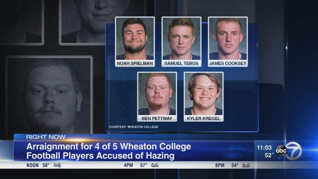 4 Wheaton College football players arraigned