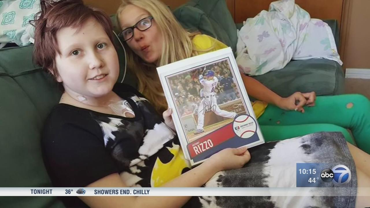 Signed Anthony Rizzo photo missing from young cancer patients room