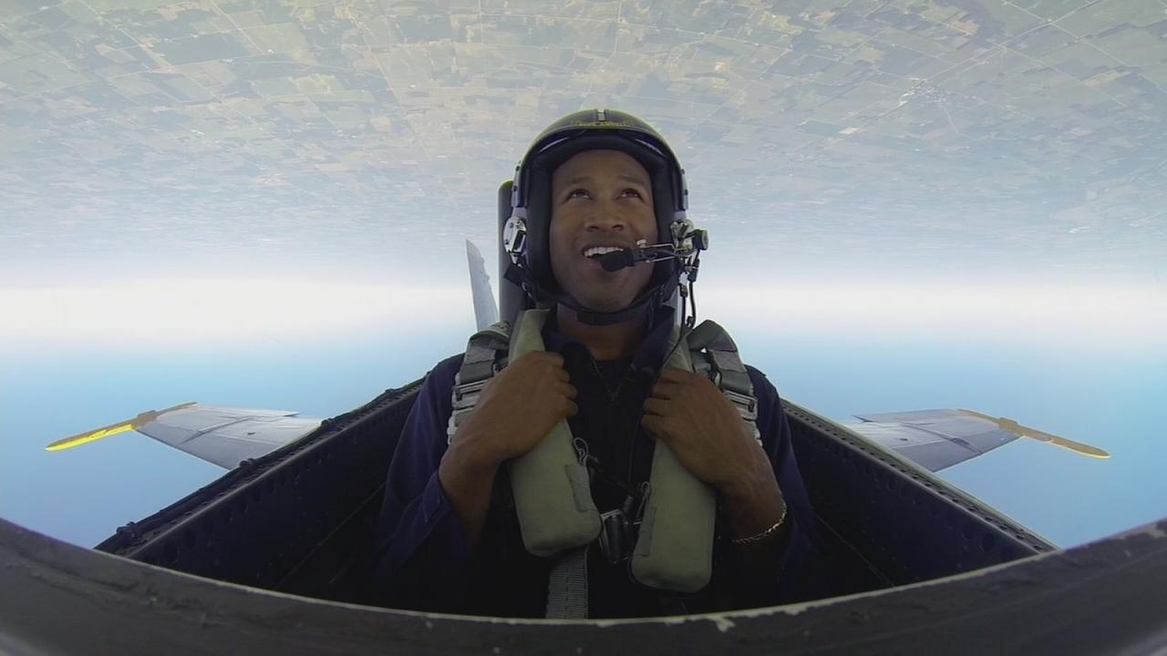 ABC7s Terrell Brown flies with the Blue Angels