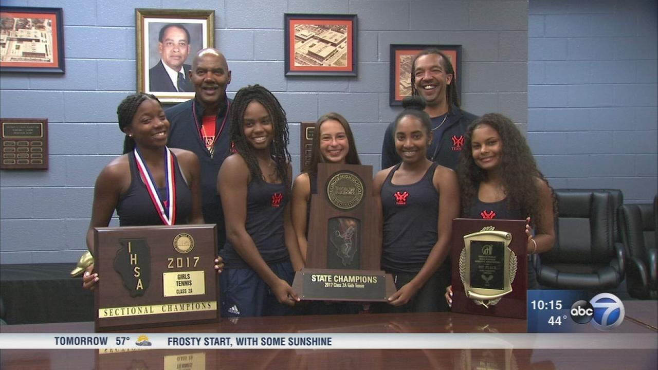 Whitney Young girls team wins CPSs first girls state tennis title