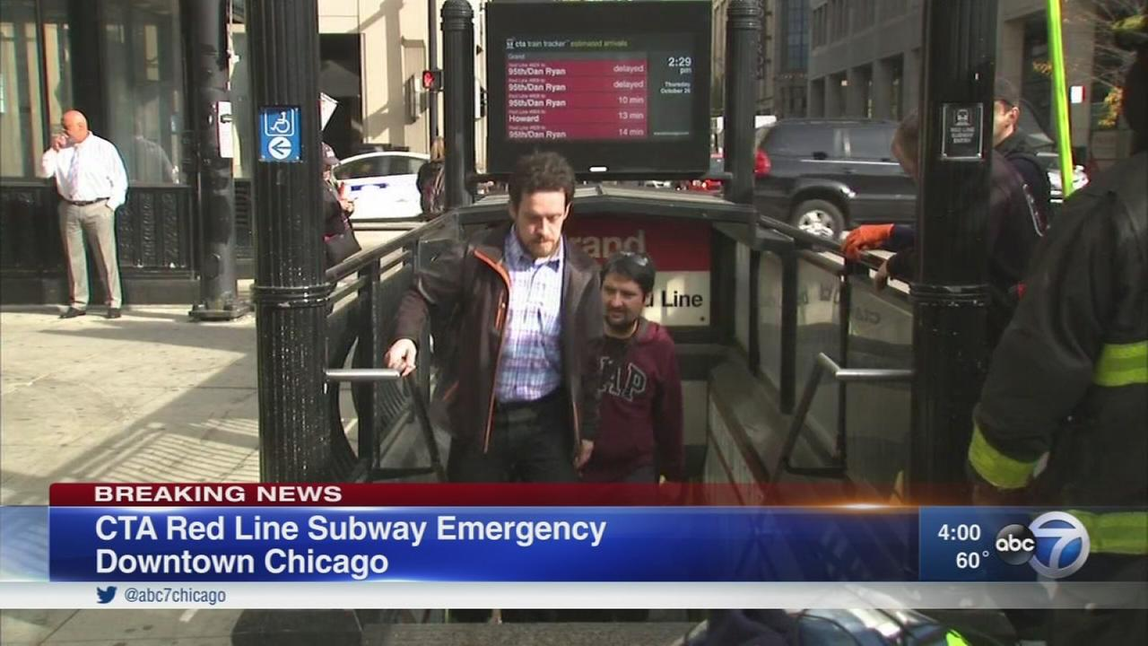 Northbound Red Line trains temporarily rerouted due to loss of power