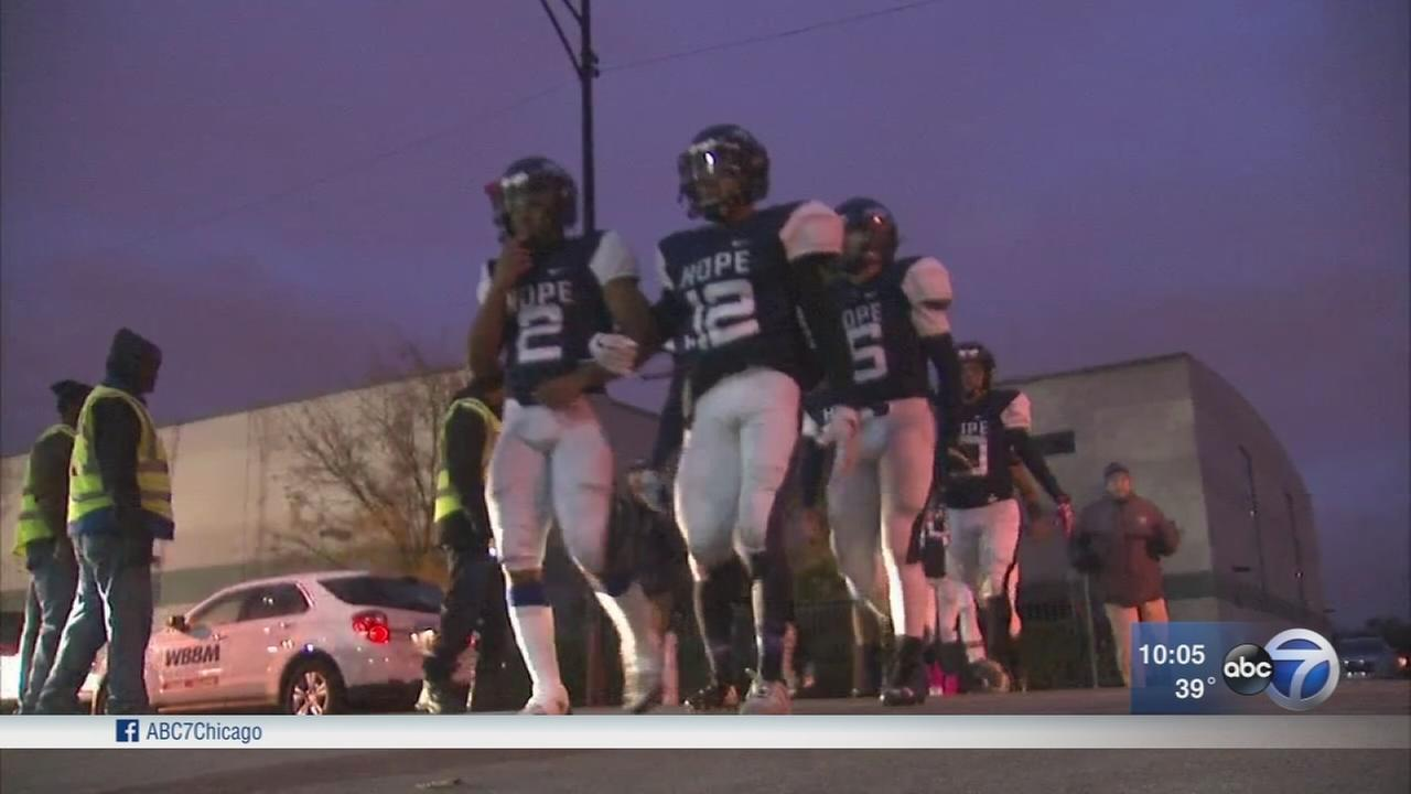 Playoff game takes place at Chicago Hope Academy after 2 schools forfeited for safety concerns