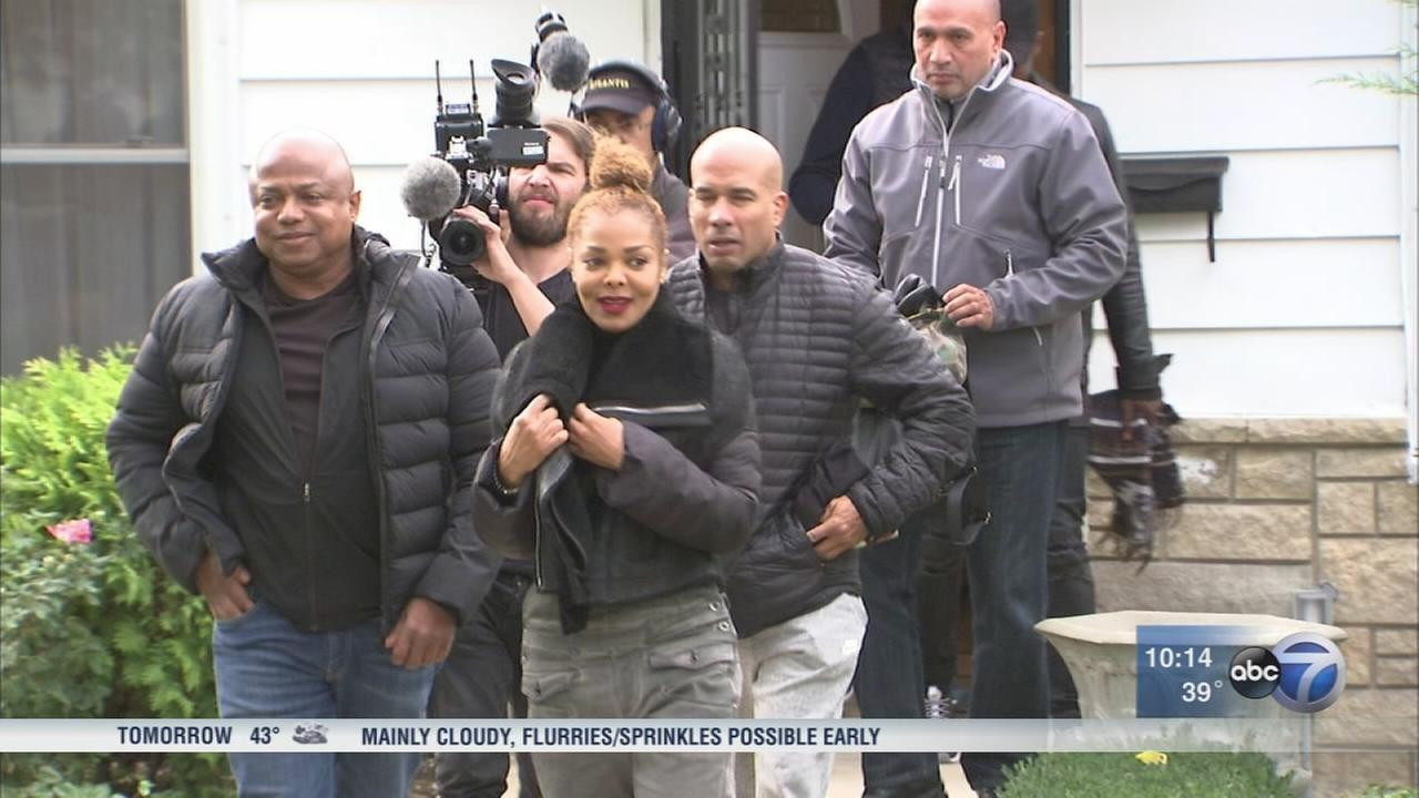 Jacket Jackson visits childhood home in Gary