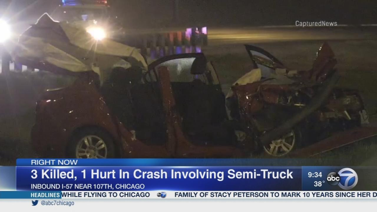 3 killed in I-57 crash on Far South Side