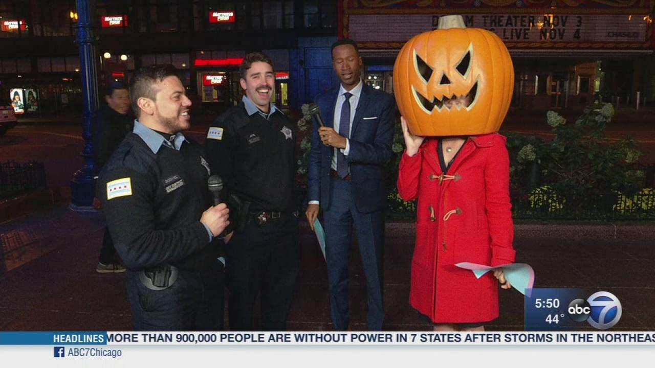 Chicago cops react after starring in viral Halloween safety video