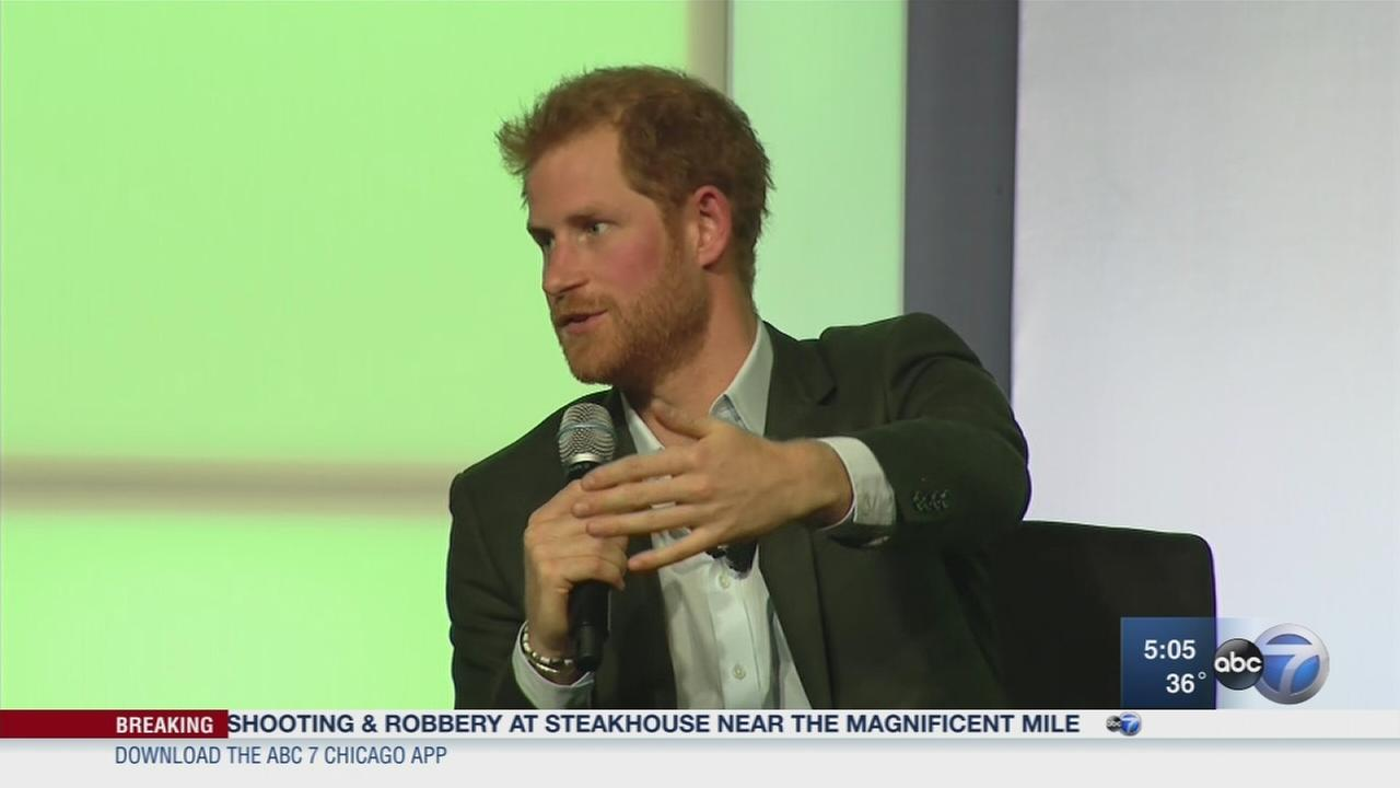 Prince Harry helps kick off Obama summit