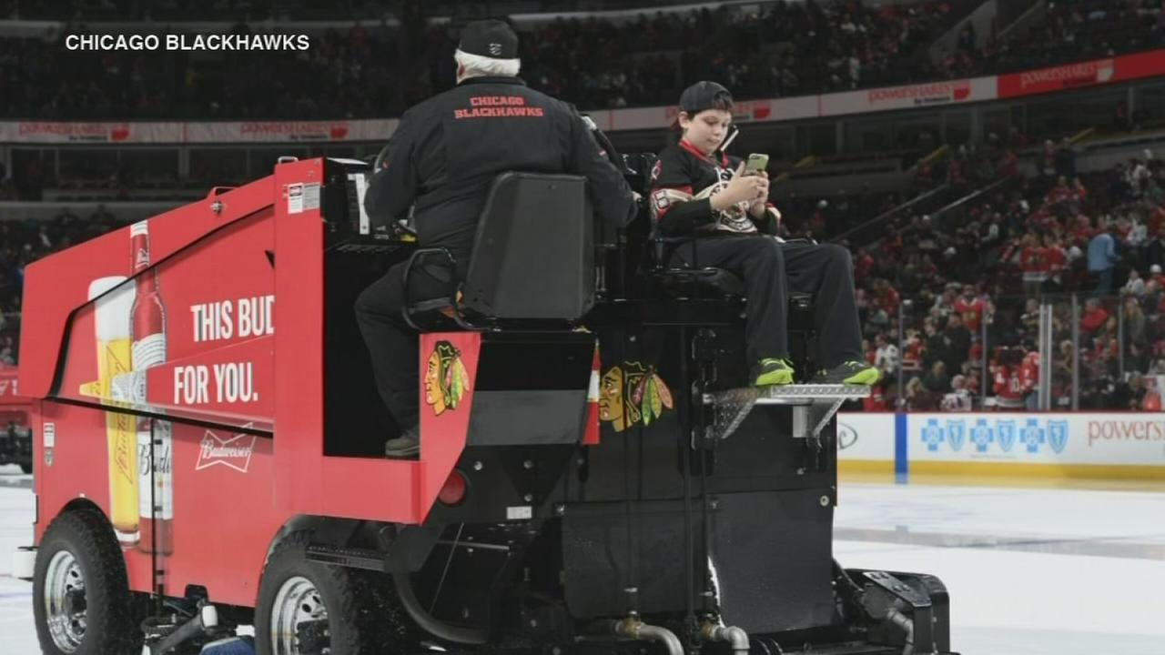 Teen with Zamboni costume rides real one at UC