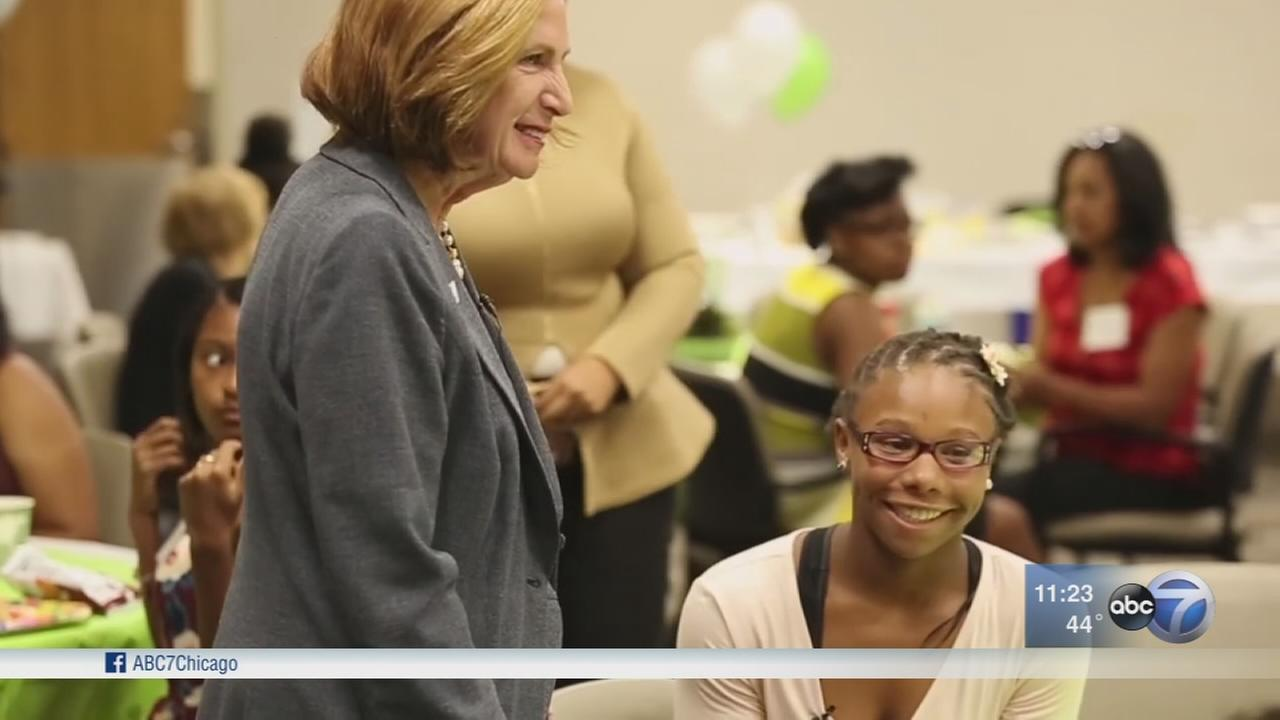 CEO honored; encourages girls to study STEM