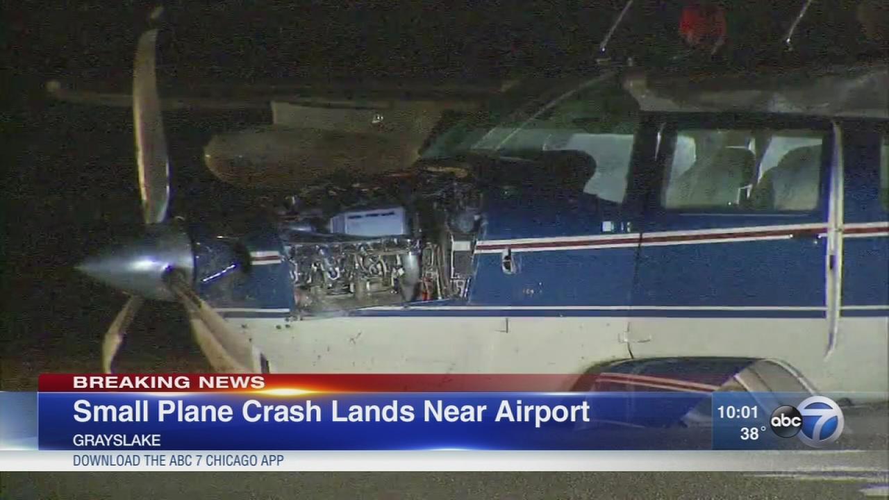 Small plane crash lands near Grayslake airport