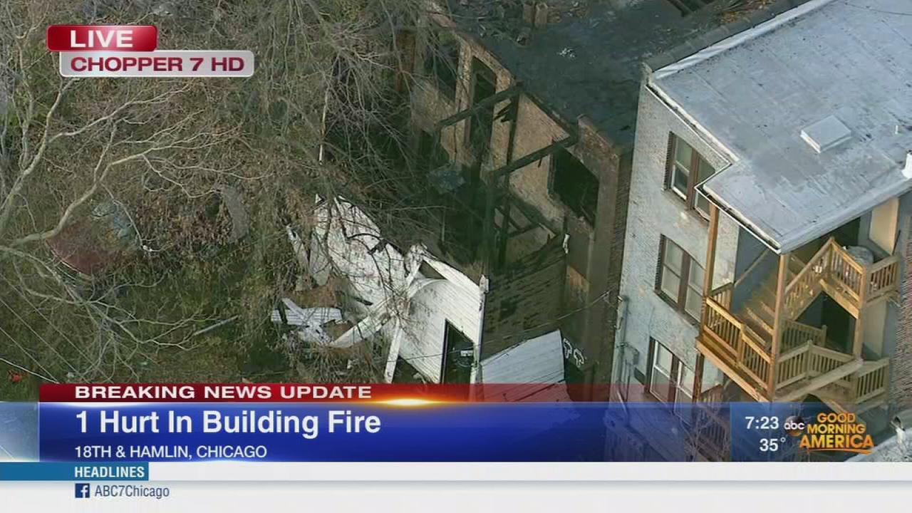 Person critically injured in Lawndale vacant building fire