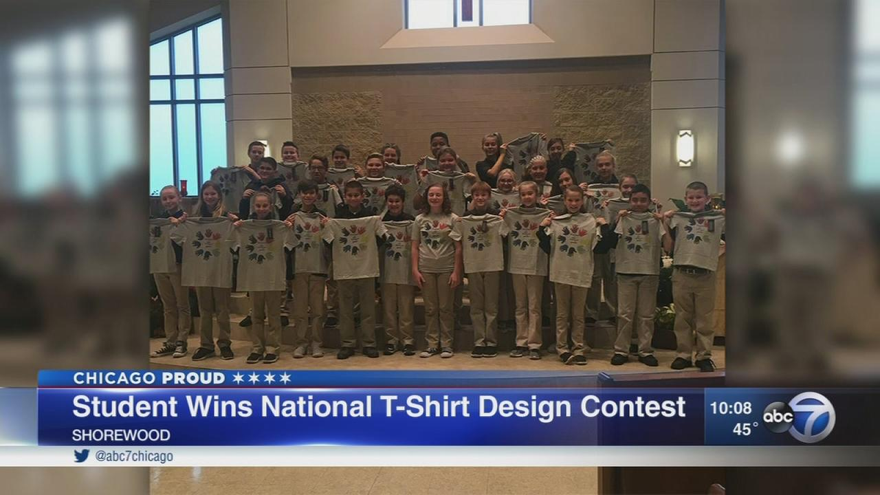 Shorewood sixth grader wins t-shirt contest