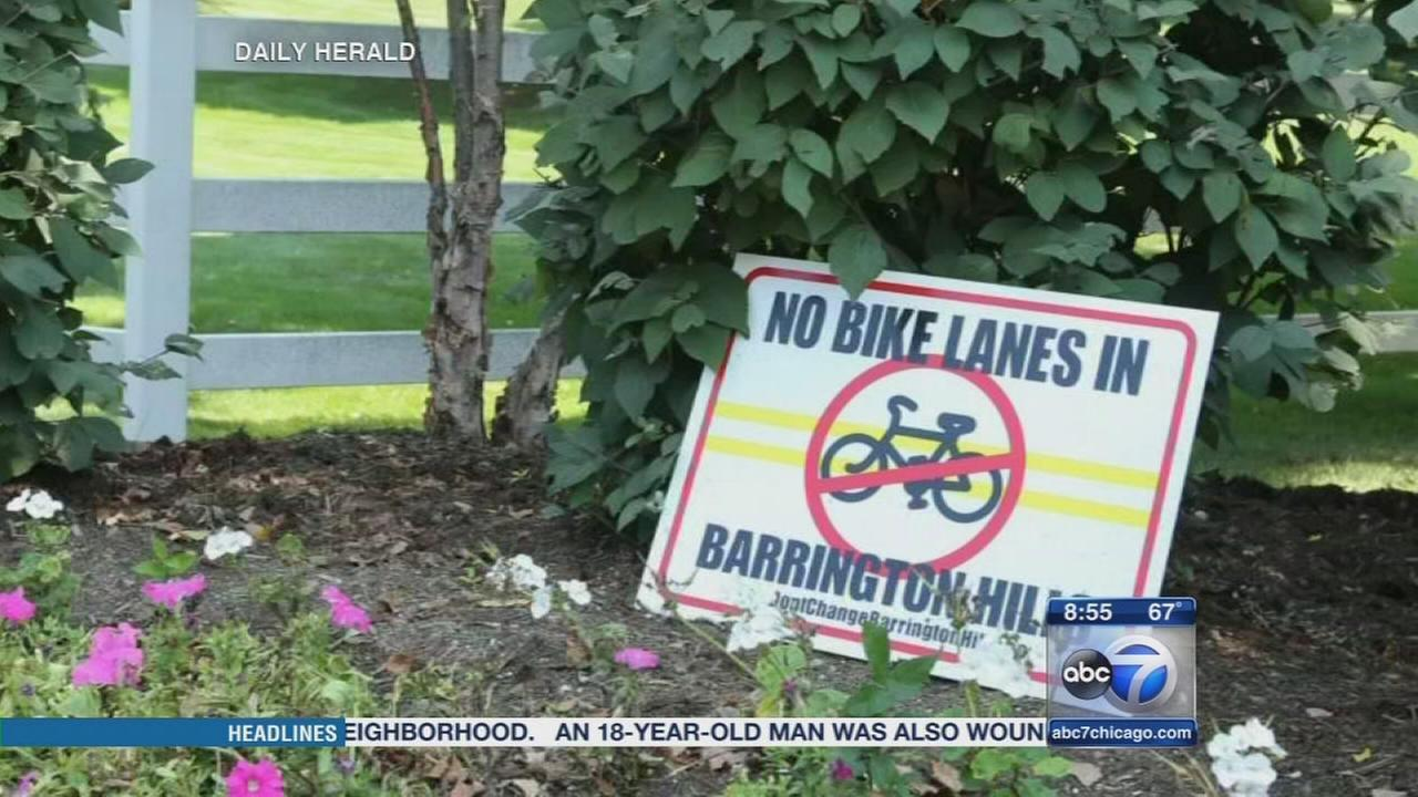 Barrington Hills bans bicyclists