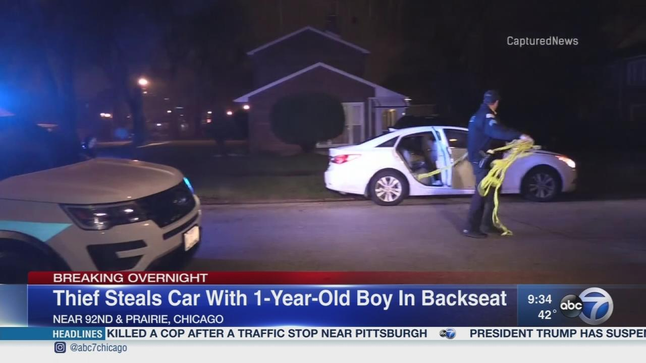 Boy, 1, safe after car stolen on South Side