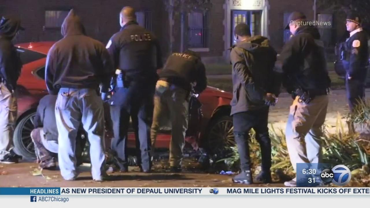 Car crashes into Cook County squad car after shooting on South Side