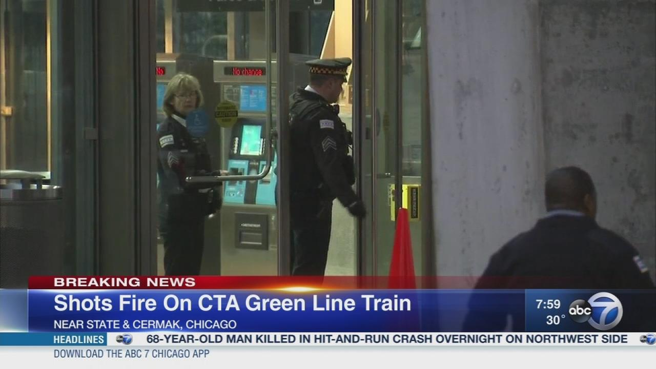 Shots fired in attempted robbery on Green Line train in South Loop