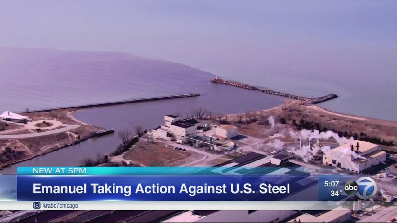 Mayor Emanuel takes on US Steel over lake discharge