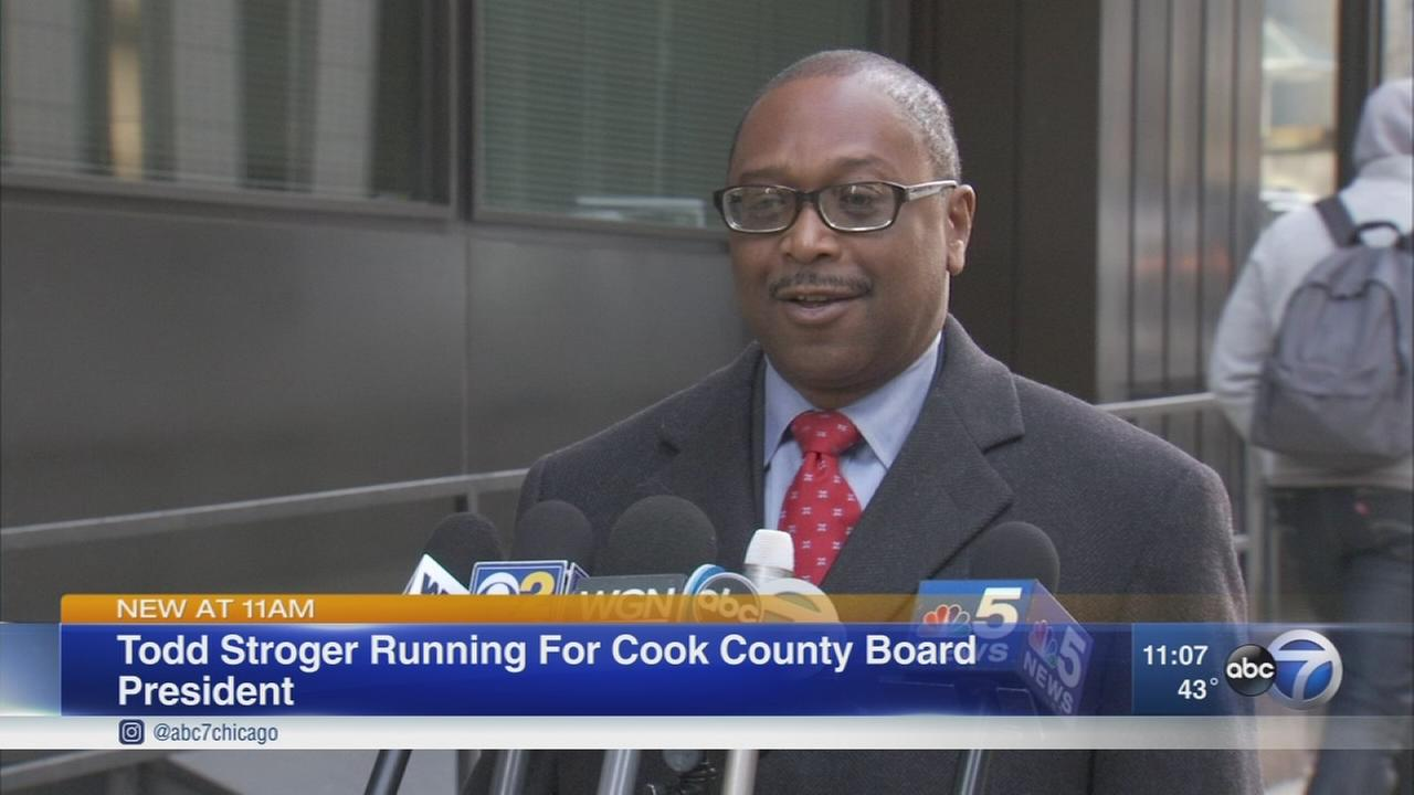 Todd Stroger announces candidacy for County Board President