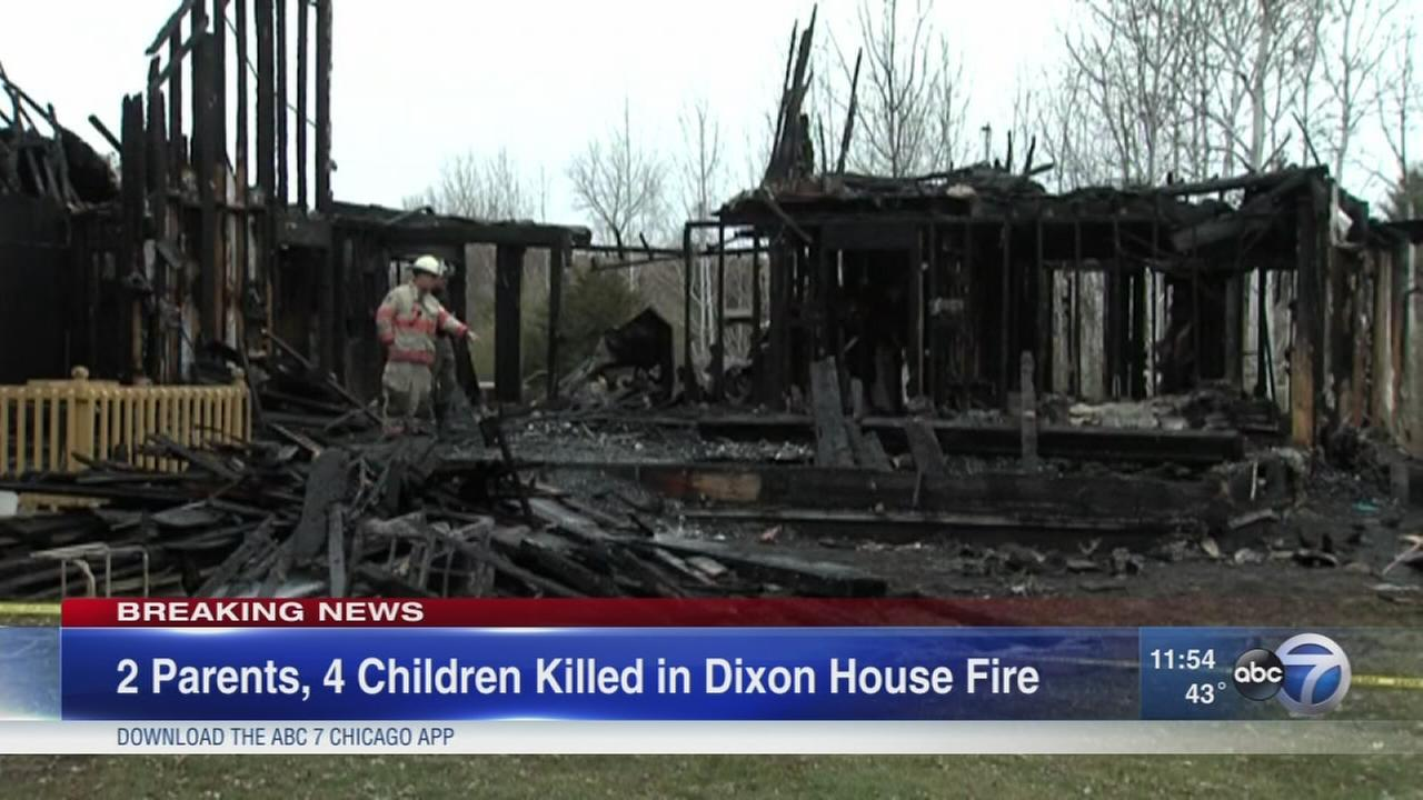 6 dead in house fire outside Dixon