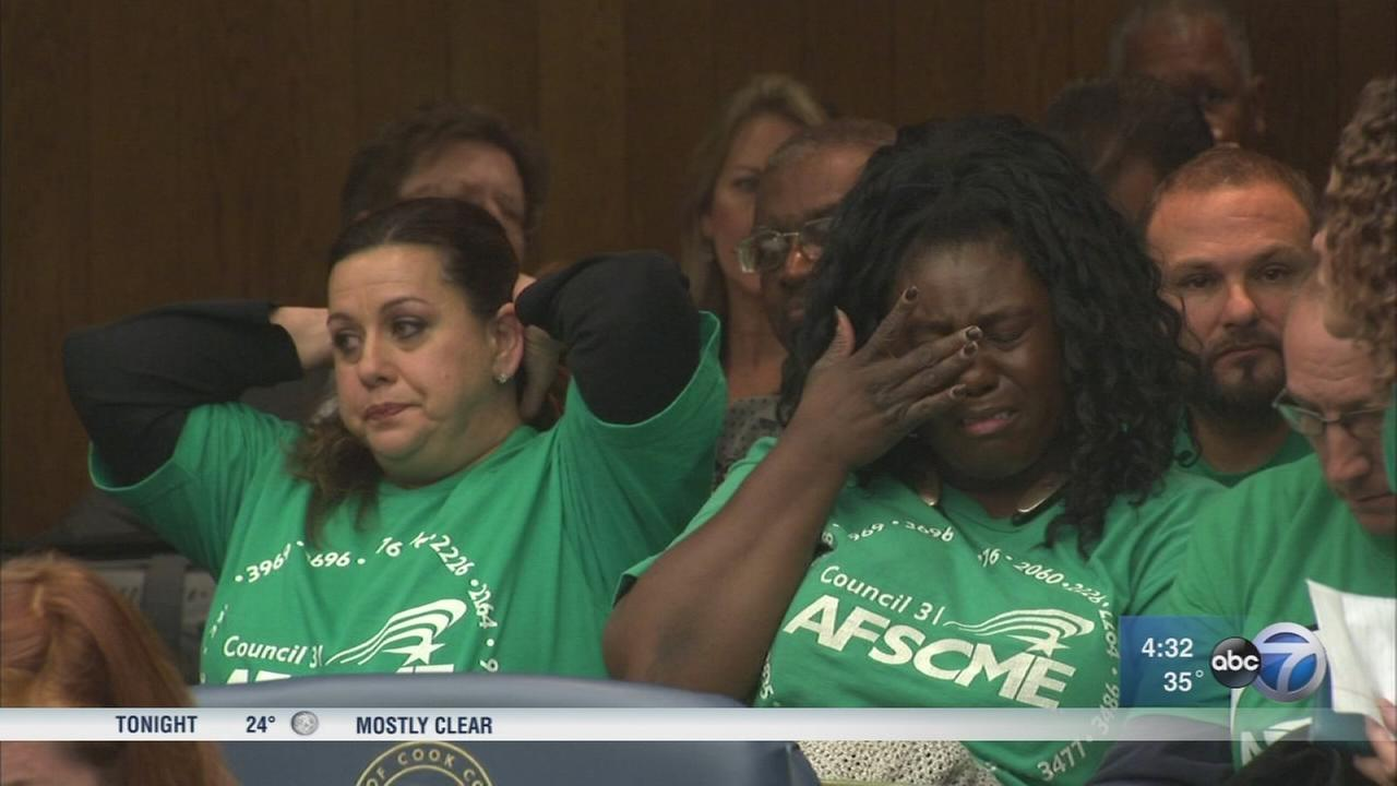 Cook County approves budget with 321 layoffs