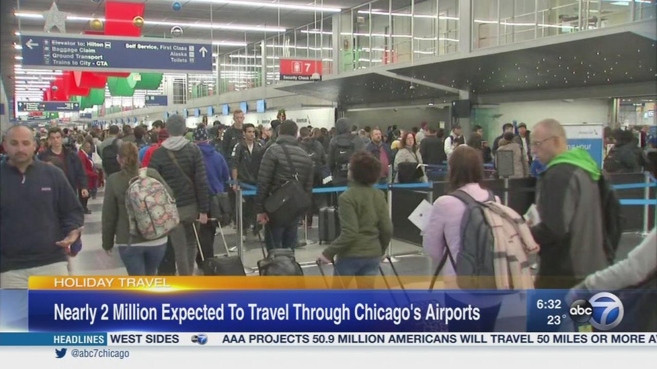Nearly 2M expected to travel through Chicago airports