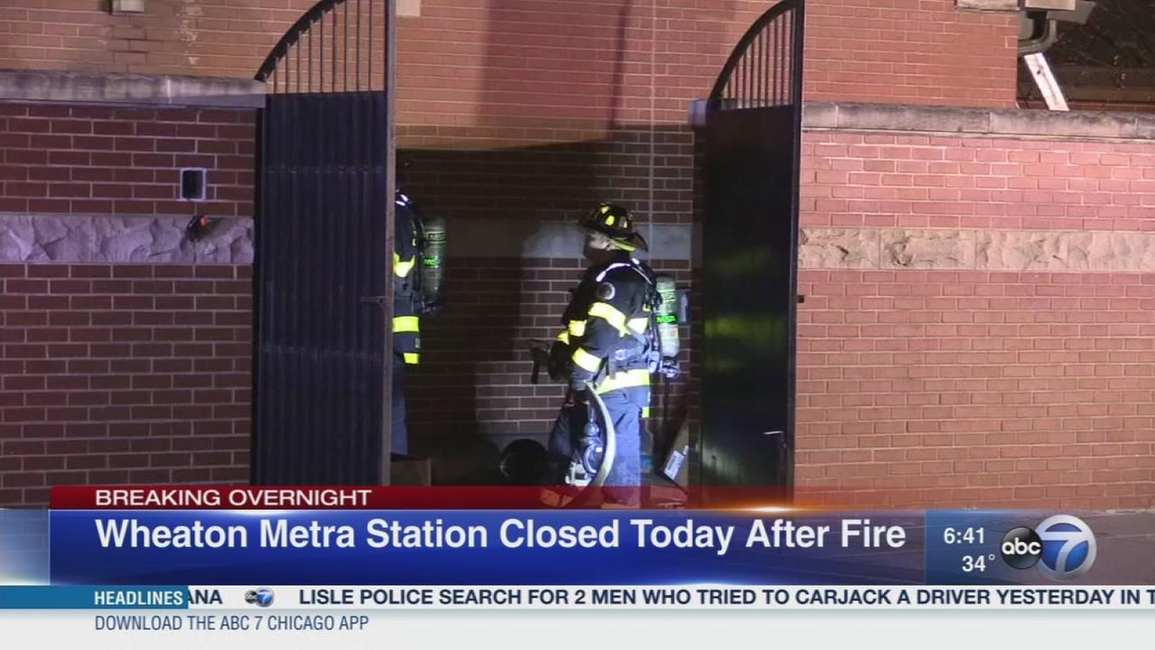 Wheaton Metra station fire