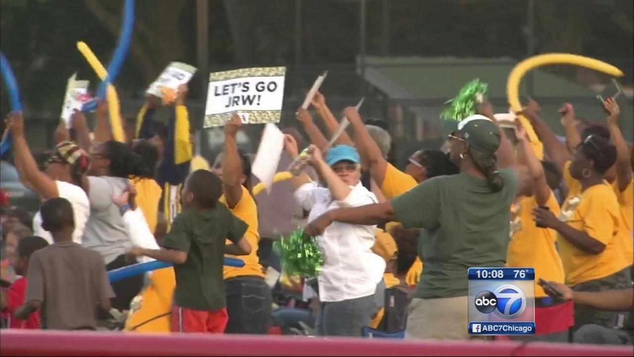 Fans cheer on Jackie Robinson West at Chicago watch party