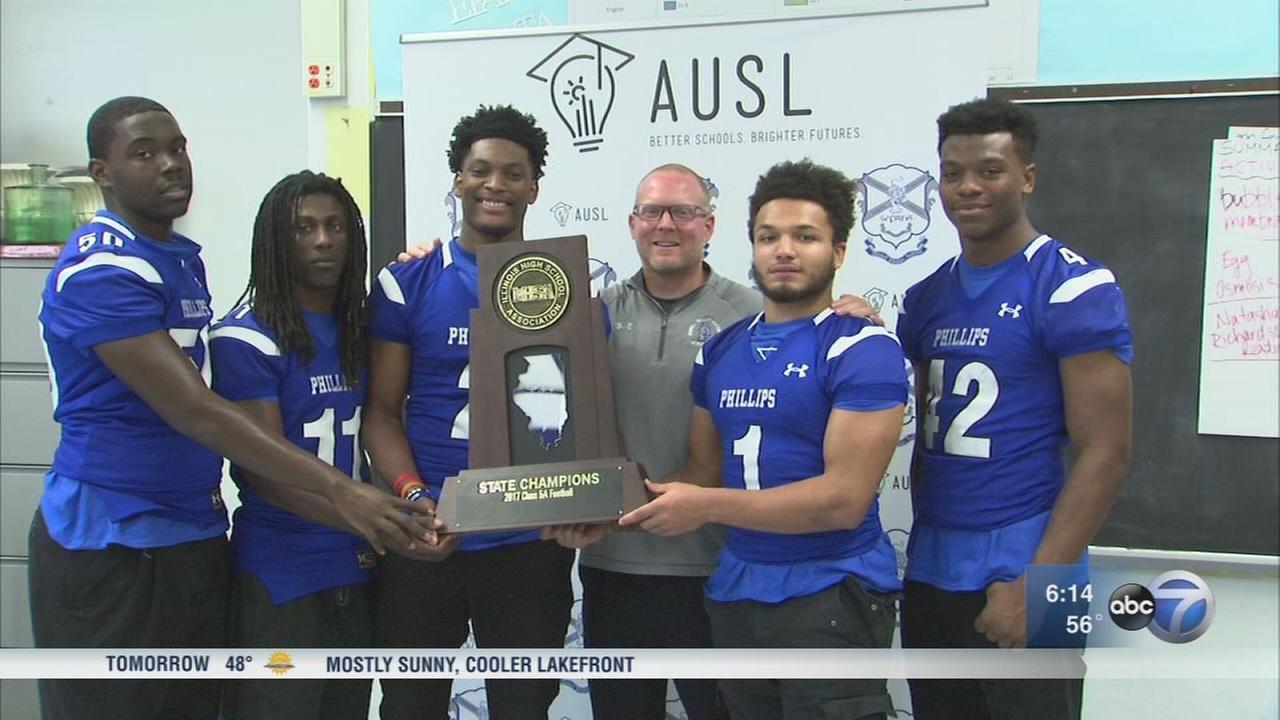 Phillips Academy celebrates 2nd state football championship since 2015