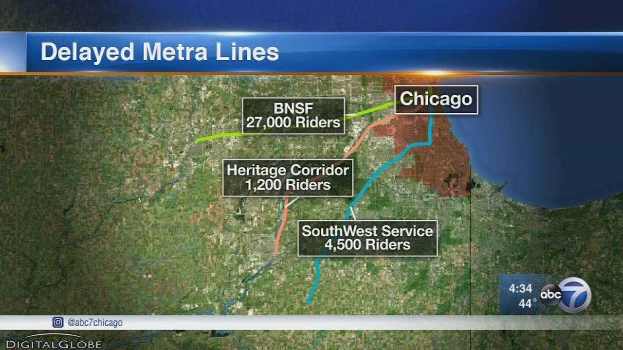 Metra, Amtrak delays expected at Union Station Wednesday night