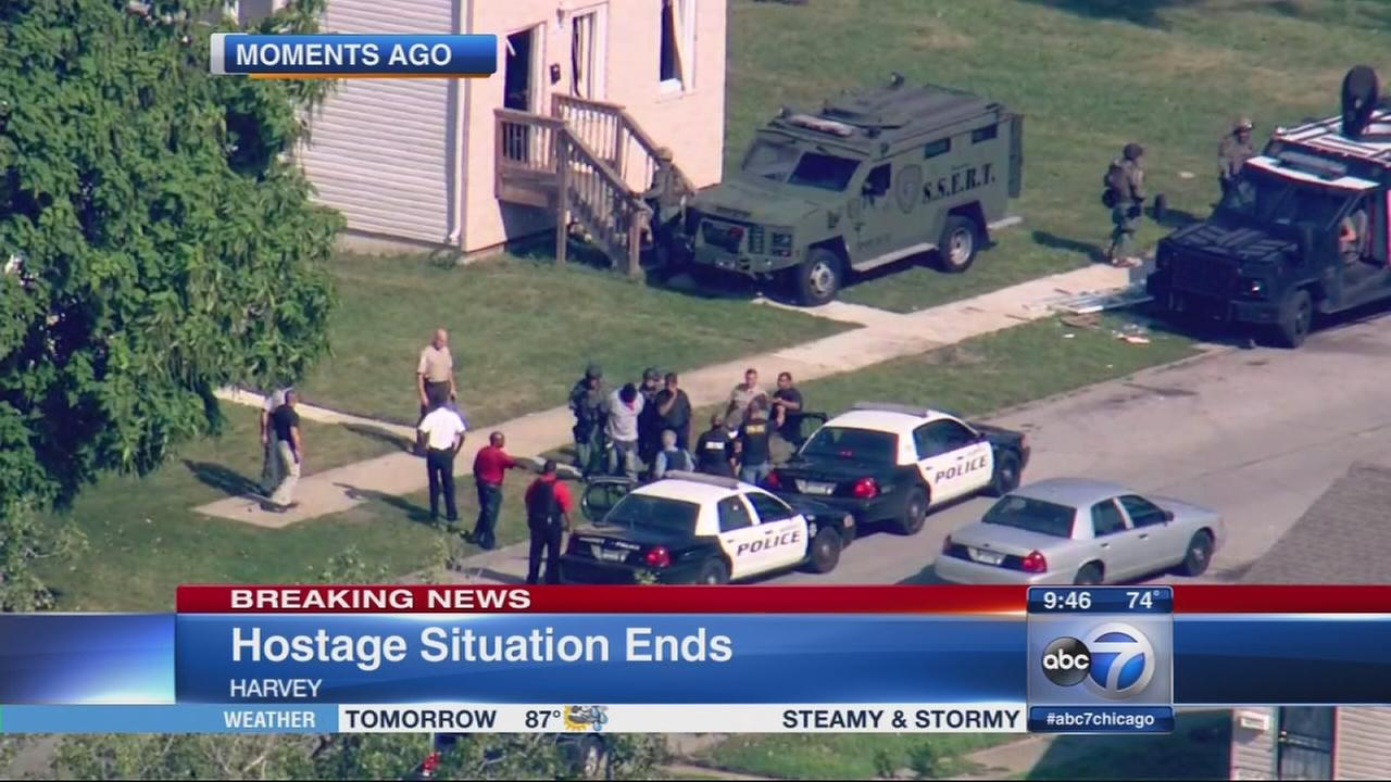 Harvey hostage situation ends