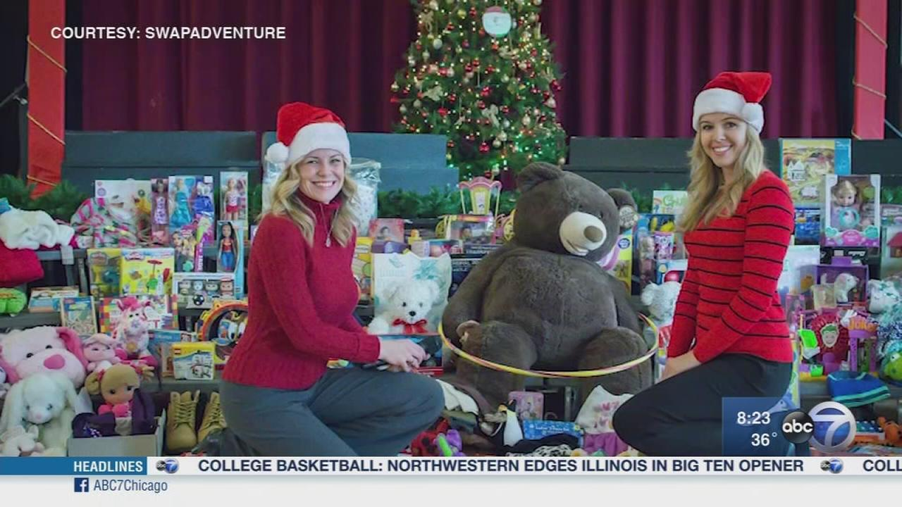 Holiday gift donations with Swapadventure
