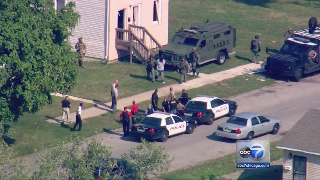 Standoff ends with arrests
