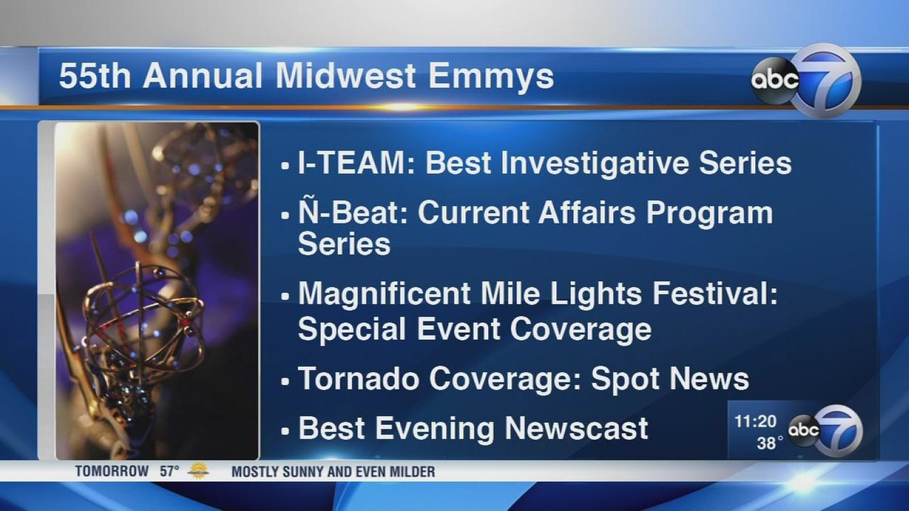 ABC7 honored with 9 Midwest Emmy Awards