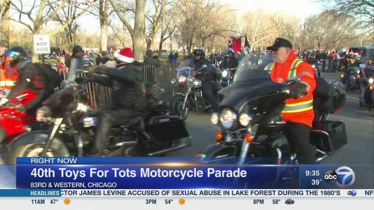 Motorcycles Presiodent Toys For Tots : Disney abc television group holds day of giving to