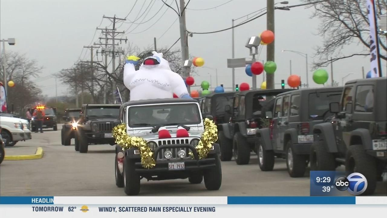 Holiday Jeep Run in Arlington Heights