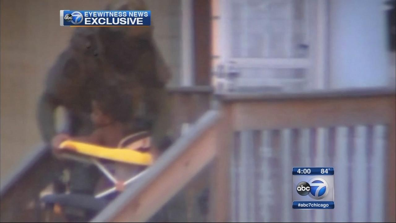 Video shows baby in stroller rescued