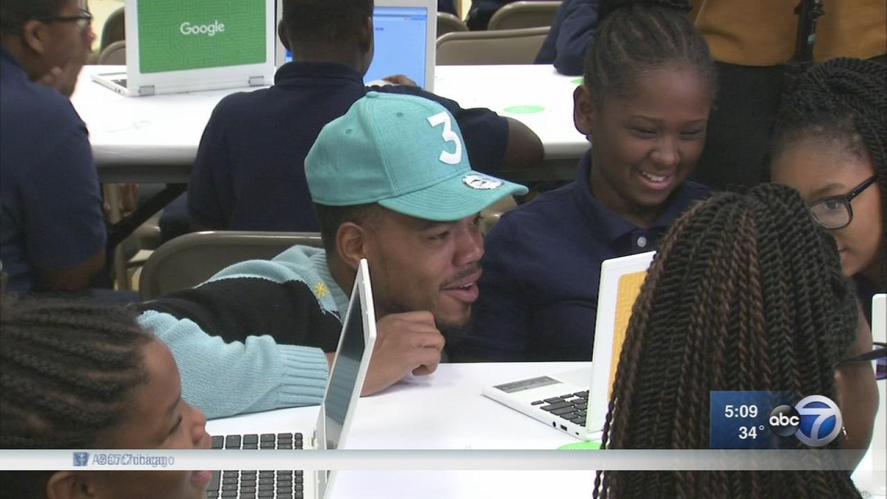 Chance the Rapper surprises CPS students, announces Googles $1M donation